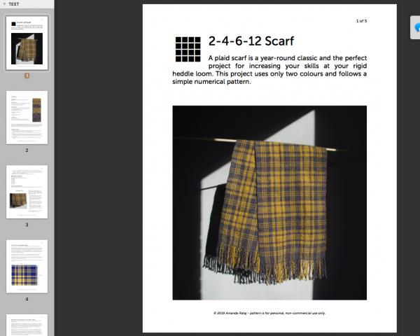 2-4-6-12 Scarf weaving pattern screenshot