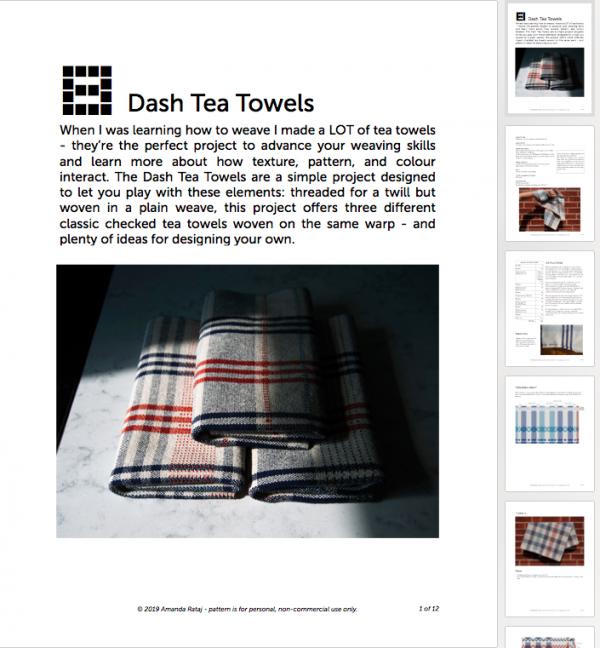 Screenshot of Dash Tea Towels weaving pattern