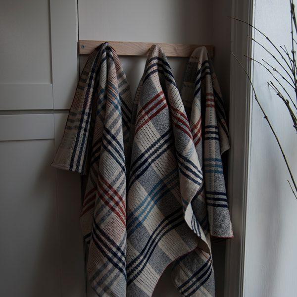 Three variations of Dash Tea Towels weaving pattern