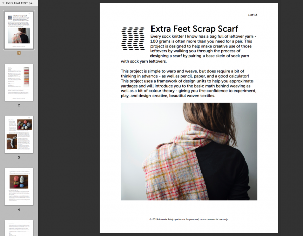 Extra Feet Scrap Scarf weaving eBook screenshot