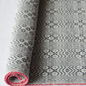Free weaving pattern Bouquet handwoven kitchen towel rolled up
