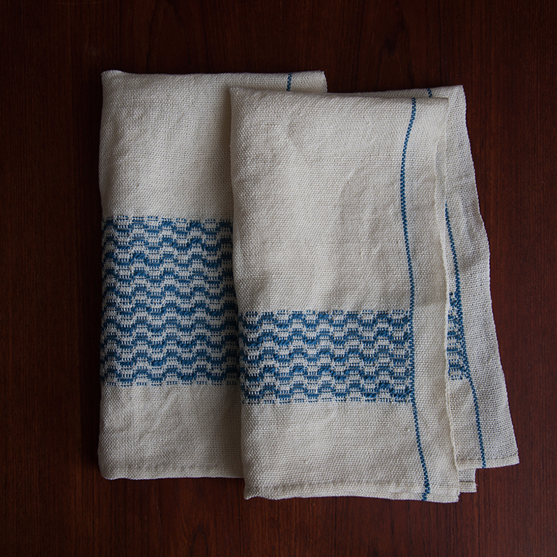 Two Tidal Towels - a free weaving pattern from GIST Yarn and Fiber