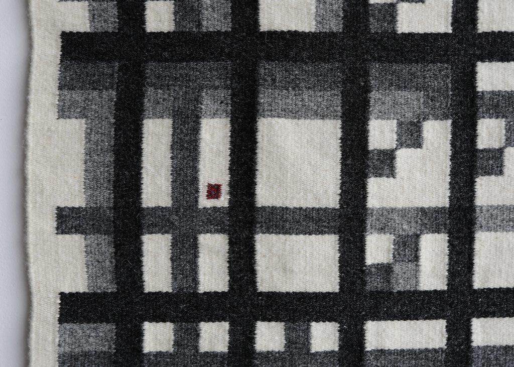 Handwoven rug, map rug