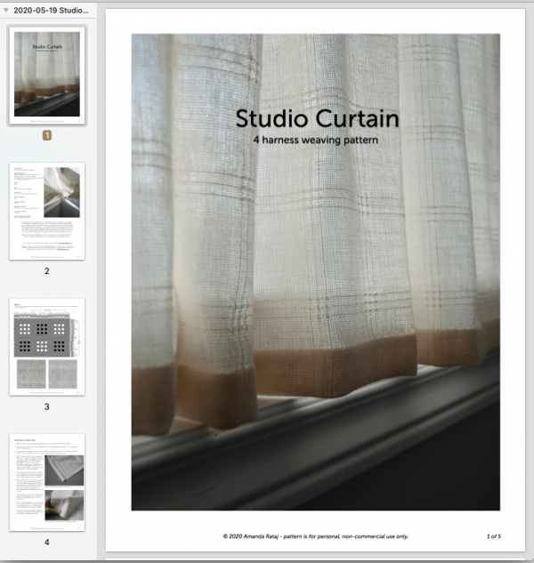 Studio Curtains weaving pattern screenshot