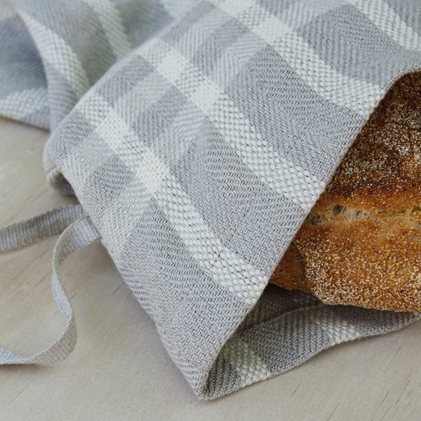 Linen Bread Bag weaving pattern available in shop