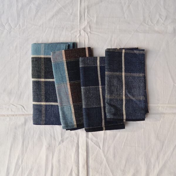 four handwoven cloths
