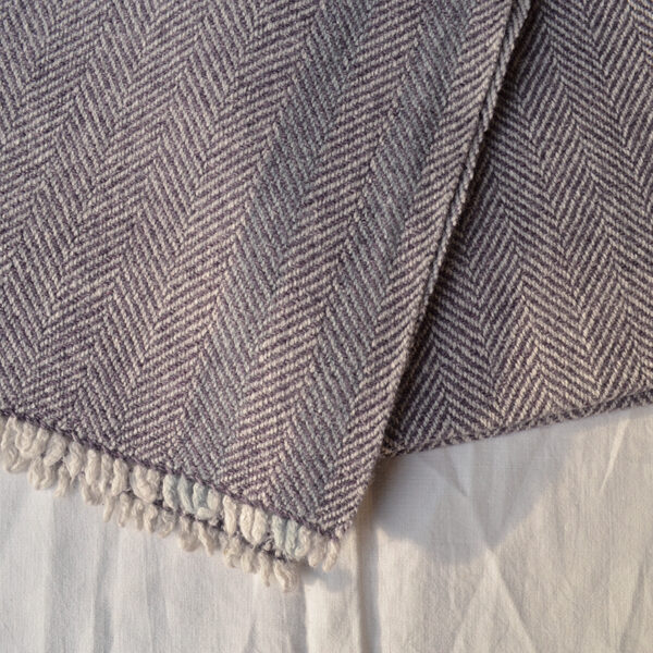 handwoven scarf detail